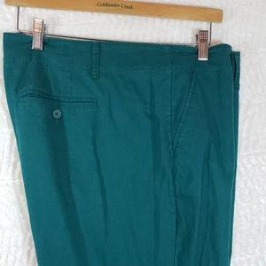Green Loft Linen/Cotton Pants, Size: 14